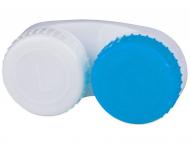 Suporți pentru lentile de contact - Lens Case blue & white L+R