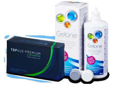 TopVue Premium for Astigmatism (6lentile) +Soluție Gelone 360 ml