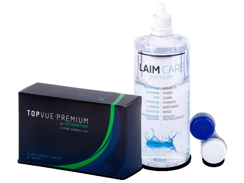 TopVue Premium for Astigmatism (6lentile) +SoluțieLaim-Care400ml - Pachet avantajos