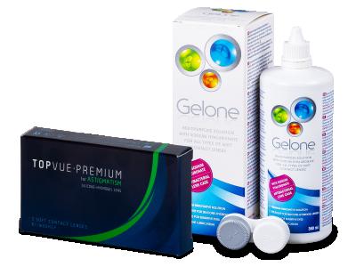 TopVue Premium for Astigmatism (3 lentile) +Soluție Gelone 360 ml
