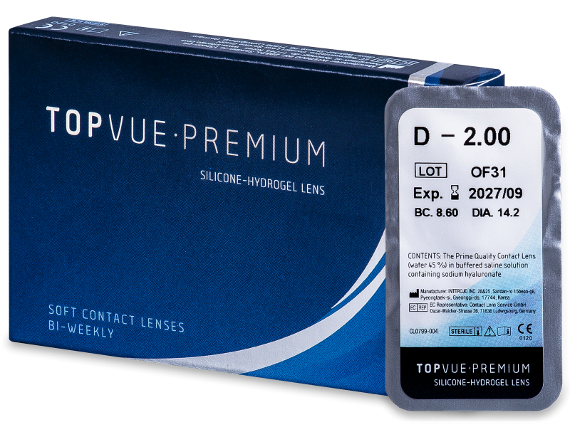 TopVue Premium (1 lentilă) - Bi-weekly contact lenses