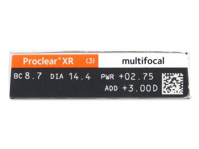 Proclear Multifocal XR (6 lentile) - vizualizare parametrii