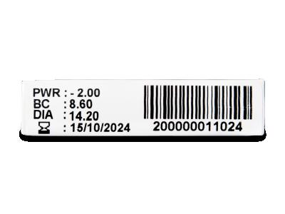 TopVue Monthly Plus (6 lentile) - vizualizare parametrii