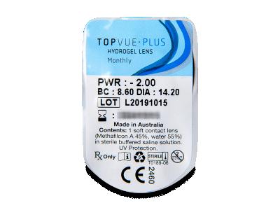 TopVue Monthly Plus (6 lentile) - vizualizare ambalaj