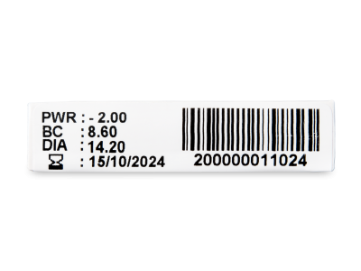 TopVue Monthly Plus (1 lentilă) - vizualizare parametrii