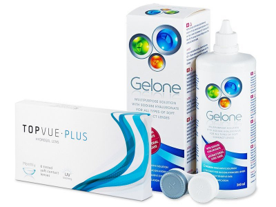 TopVue Monthly Plus (6 lentile) + Soluție Gelone 360 ml - Pachet avantajos