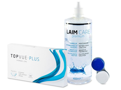 TopVue Monthly Plus (6 lentile) + Soluție LAIM-CARE 400 ml