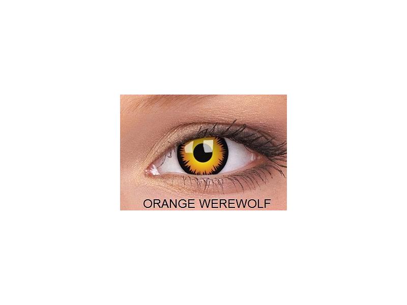 Crazy ColourVUE (2lentile) - Orange Werewolf