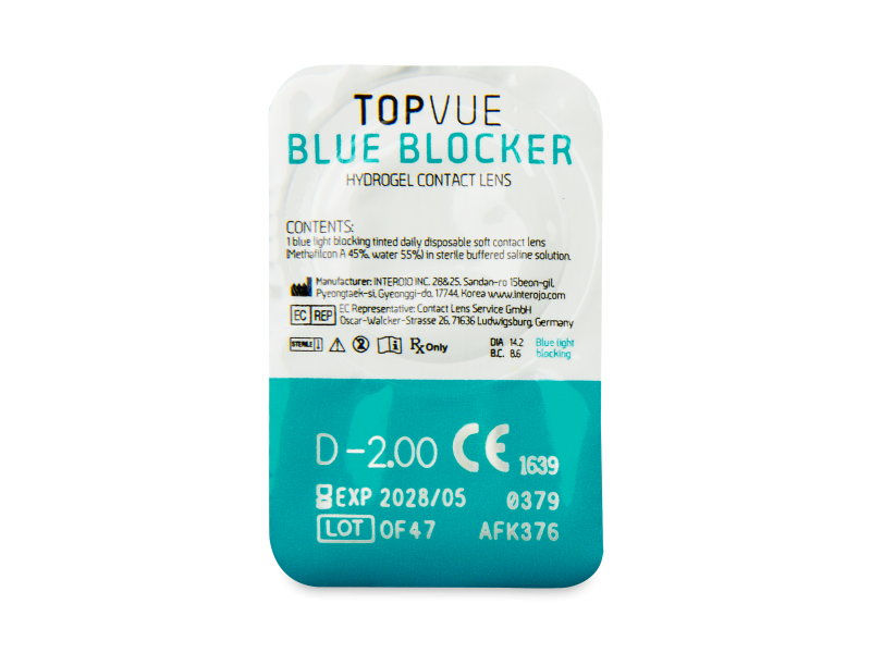 TopVue Blue Blocker (30 lentile) - vizualizare ambalaj