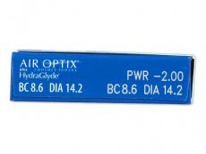 Air Optix plus HydraGlyde (6lentile) - vizualizare parametrii