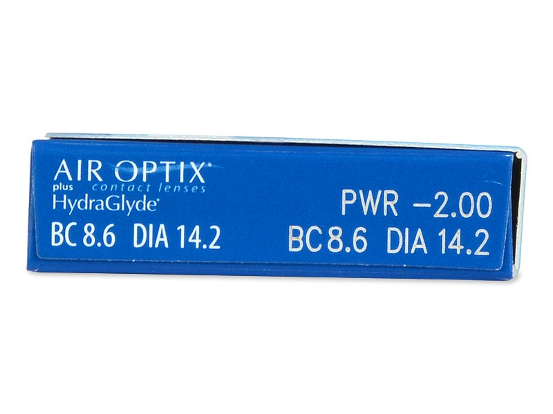Air Optix plus HydraGlyde (3 lentile) - vizualizare parametrii