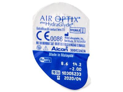 Air Optix plus HydraGlyde (3lentile) - vizualizare ambalaj