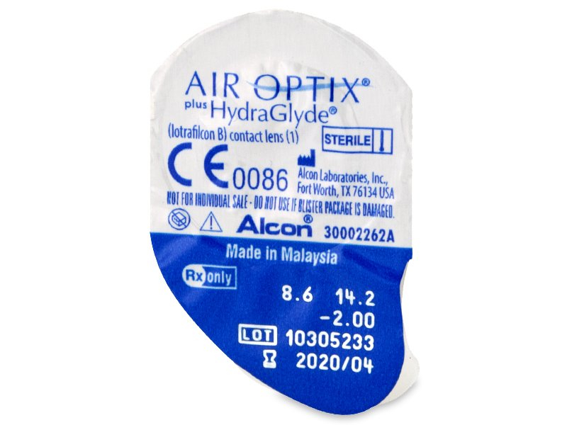 Air Optix plus HydraGlyde (3 lentile) - vizualizare ambalaj