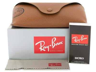 Ochelari de soare Ray-Ban Justin RB4165 - 865/T5 POL  - Preview pack (illustration photo)