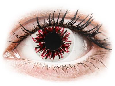 CRAZY LENS - Harlequin Black - lentile zilnice cu dioptrie (2 lentile)