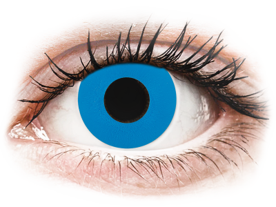 CRAZY LENS - Sky Blue - lentile zilnice cu dioptrie (2 lentile)