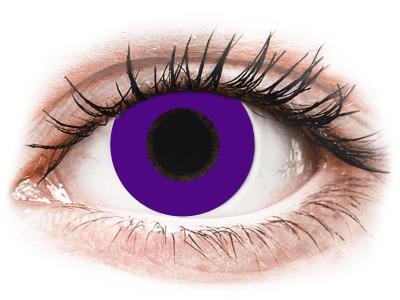 CRAZY LENS - Solid Violet - lentile zilnice fără dioptrie (2 lentile)