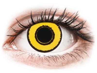 CRAZY LENS - Yellow Twilight - lentile zilnice fără dioptrie (2 lentile)