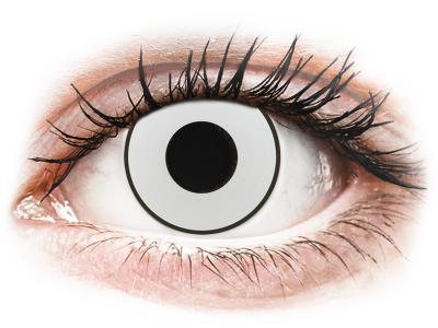 CRAZY LENS - White Black - lentile zilnice cu dioptrie (2 lentile)