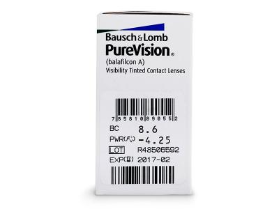 PureVision (6lentile) - vizualizare parametrii