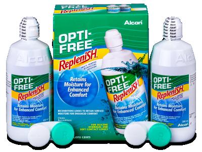 Soluție OPTI-FREE RepleniSH 2x300ml  - Economy duo pack- solution