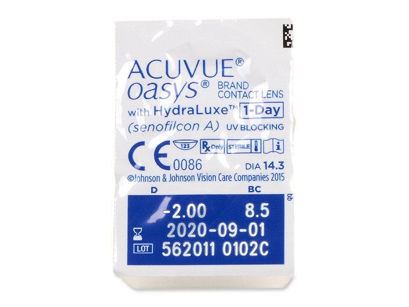 Acuvue Oasys 1-Day (30 lentile) - vizualizare ambalaj
