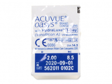 Acuvue Oasys 1-Day (90 lentile) - vizualizare ambalaj