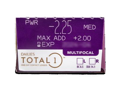 Dailies TOTAL1 Multifocal (30 lentile) - vizualizare parametrii