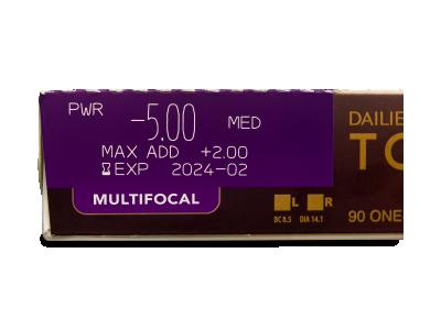 Dailies TOTAL1 Multifocal (90 lentile) - vizualizare parametrii