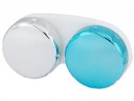 Suport pentru lentile de contact - diferite culori și modele - Suport pentru lentlle de contact - oglindă albastru
