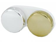 Suport pentru lentile de contact - diferite culori și modele - Suport pentru lentlle de contact - oglindă auriu