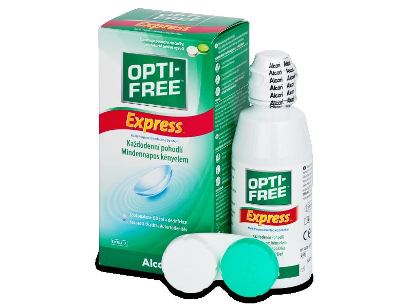 Soluție  OPTI-FREE Express 120ml  - soluție de curățare