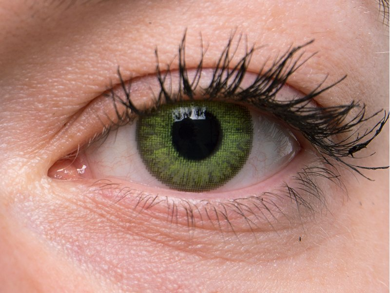 TopVue Color Daily - cu dioptrie (10 lentile) - Fresh green on grey eye