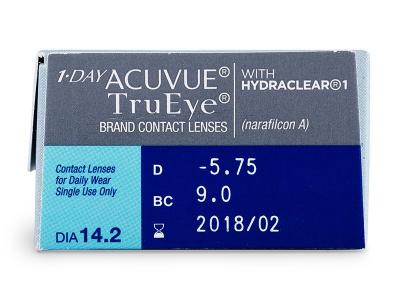 1 Day Acuvue TruEye (30lentile) - vizualizare parametrii