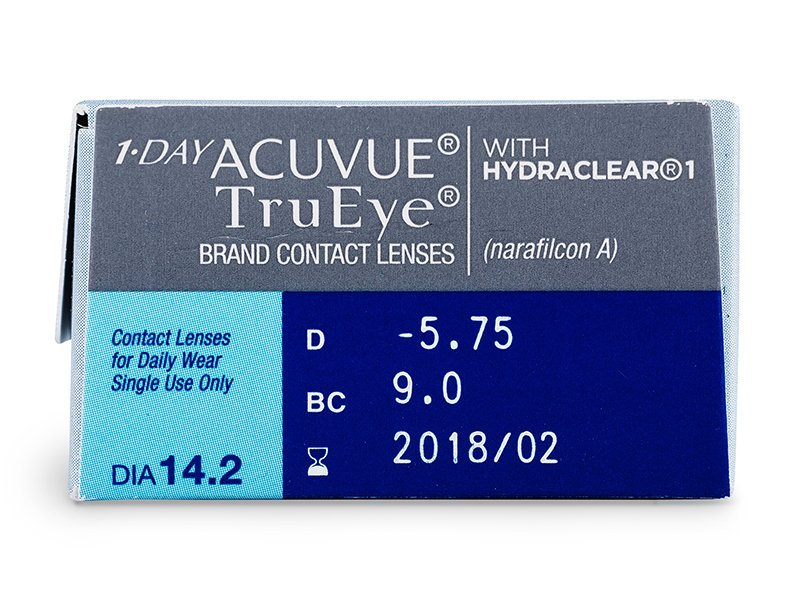 vizualizare parametrii - 1 Day Acuvue TruEye (30lentile)