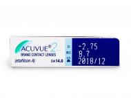 Acuvue 2 (6lentile) - vizualizare parametrii