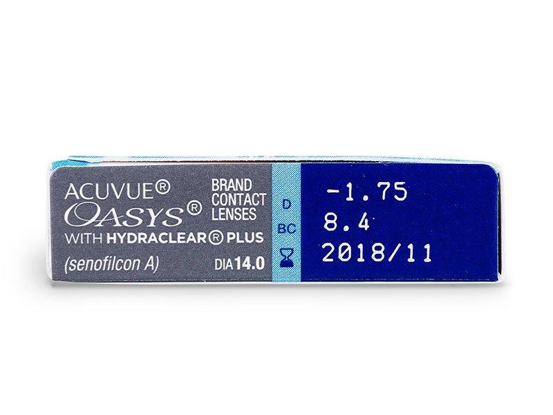 Acuvue Oasys (6lentile) - vizualizare parametrii