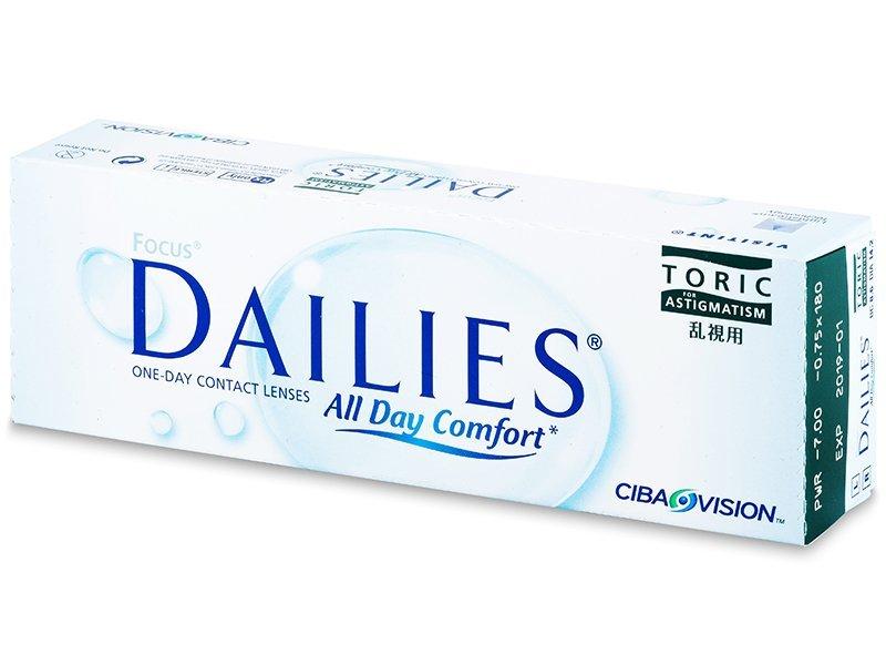Focus Dailies Toric (30lentile) - Lentile de contact pentru astigmatism