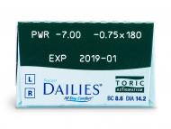 Focus Dailies Toric (30lentile) - vizualizare parametrii