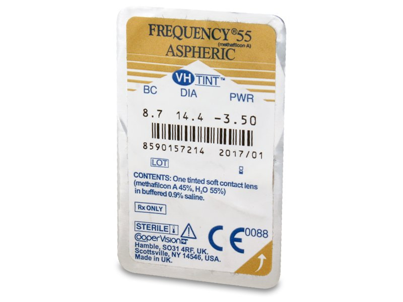 Frequency 55 Aspheric (6lentile) - vizualizare ambalaj