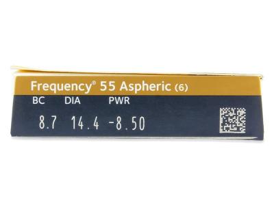 Frequency 55 Aspheric (6lentile) - vizualizare parametrii