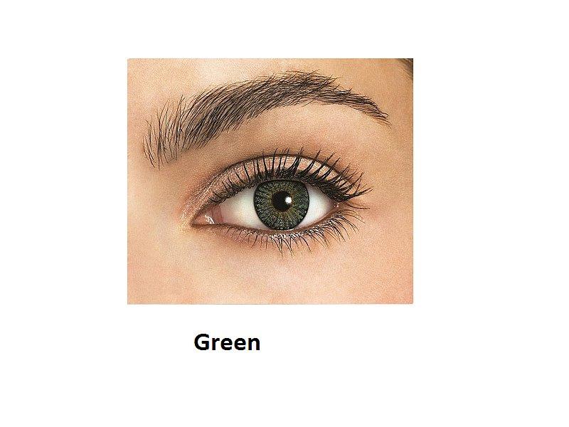 FreshLook ColorBlends - fără dioptrie (2lentile) - Green(verde)
