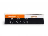 Proclear Sphere (6lentile) - vizualizare parametrii