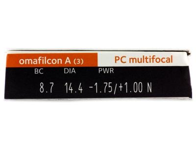 vizualizare parametrii - Proclear Multifocal (3lentile)