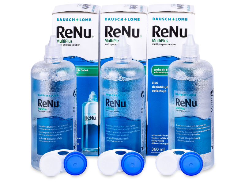 Soluție  ReNu MultiPlus 3 x 360ml  - Pachet economic triplu-soluții