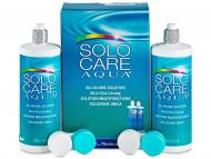 Solutii pentru lentile de contact - solutii oftalmice de curatare si dezinfectare - Soluție  SoloCare Aqua 2x360ml