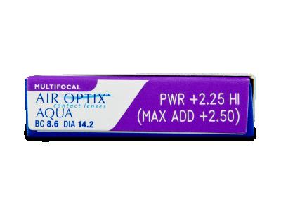Air Optix Aqua Multifocal (6lentile) - vizualizare parametrii