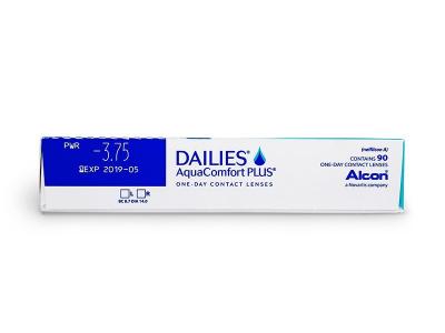 Dailies AquaComfort Plus (90lentile) - vizualizare parametrii