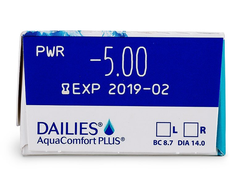 vizualizare parametrii - Dailies AquaComfort Plus (30lentile)