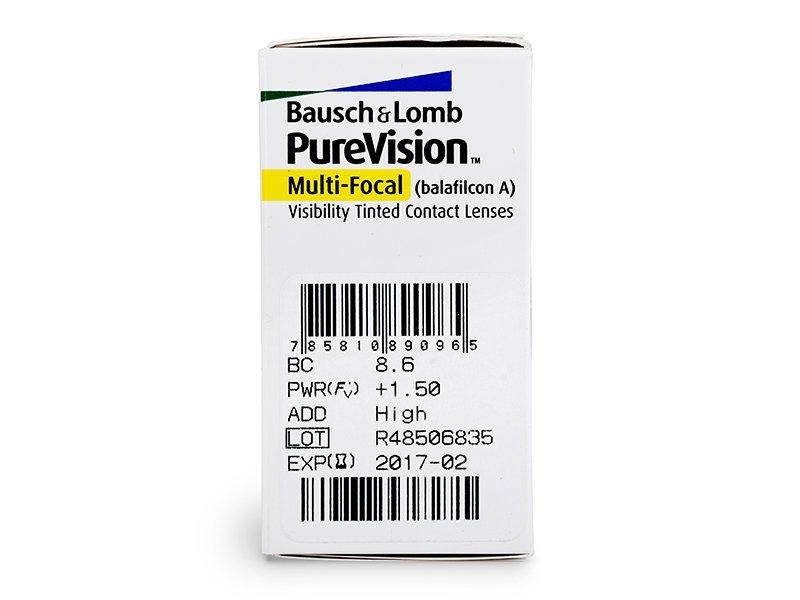 PureVision Multi-Focal (6lentile) - vizualizare parametrii